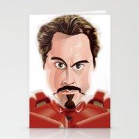 tony stark Stationery Cards featuring Tony Stark/Iron Man by Greene Graphics