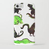 dinosaurs iPhone & iPod Cases featuring dinosaurs by Lara Paulussen