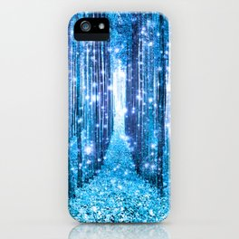 Magical Forest  Light Blue Turquoise iPhone Case
