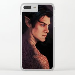 Rhysand Rhys Court of Thorns and Roses portrait Clear iPhone Case