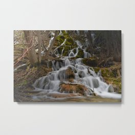 Water rushing from the mountains of Colorado Metal Print