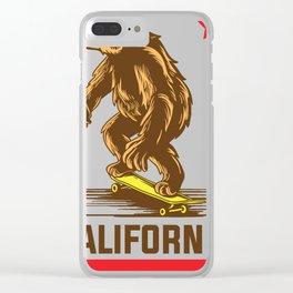 California flag bear vintage skateboarding t-shirt Clear iPhone Case