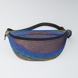 Peacock feather close up Fanny Pack
