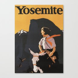 Retro Yosemite Travel Poster Canvas Print