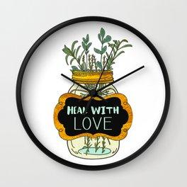 Heal With Love Wall Clock