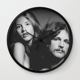 Stevie Nicks Art Lindsey Buckingham Art Fleet-wood Mac Print Poster Classic Rock Print Rock Music Legend Wall Clock