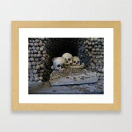Skulls & Coins Framed Art Print