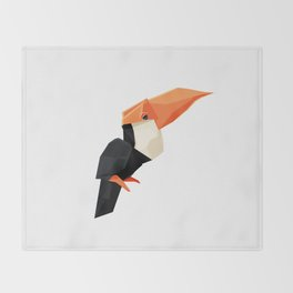 Origami Toucan Throw Blanket