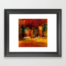 red town Framed Art Print