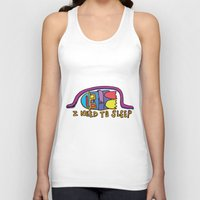 sleep Tank Tops featuring sleep by PINT GRAPHICS