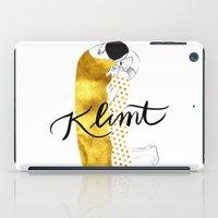 klimt iPad Cases featuring Klimt golden by Henrique Nobrega