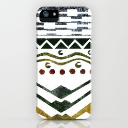 Ethnic Stencil iPhone Case