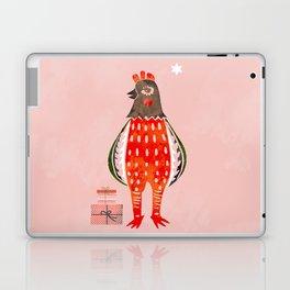 Christmas Chicken - illustration Laptop & iPad Skin