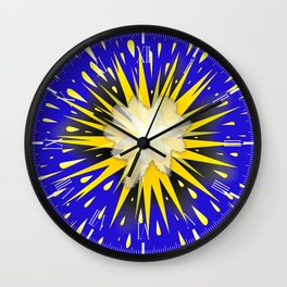 Blast Wall Clock