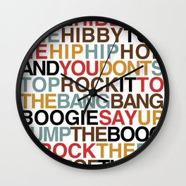 Rapper's Delight Wall Clock