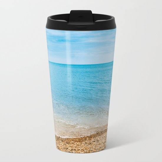 As Free As The Ocean Metal Travel Mug
