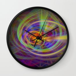 Salve twirls Wall Clock