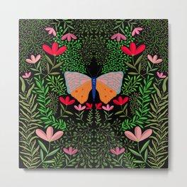 Butterfly in The Garden 01 Metal Print