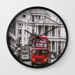 London Classic Bus Wall Clock