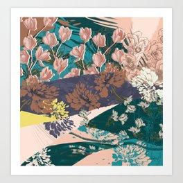 Flower Textures 03 Art Print