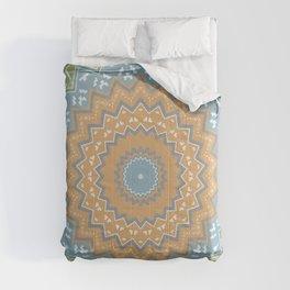 Mint Tribal Mandala Comforters