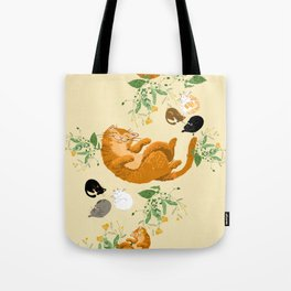 Sleeping cats family Tote Bag