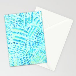 multi layer digital abtsract pattern Stationery Cards