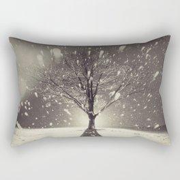 The Fury of Winter Rectangular Pillow