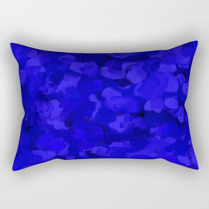 Rich Cobalt Blue Abstract Rectangular Pillow