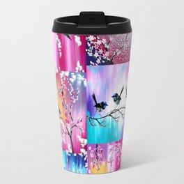Pink collage Travel Mug