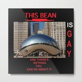 gay chicago bean Metal Print