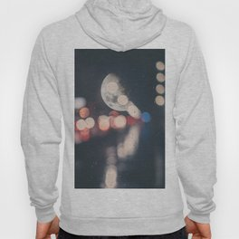 Moon Abstract Lights with Bokeh Graphic Design Photography Hoody