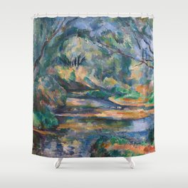 The Brook by Paul Cézanne Shower Curtain