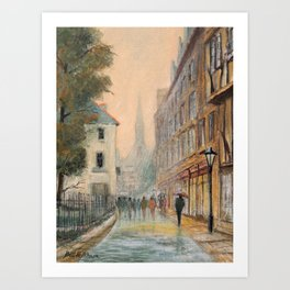 Rainy Day In Oxford England Art Print