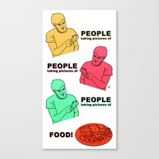 PEOPLE taking pictures of FOOD Canvas Print