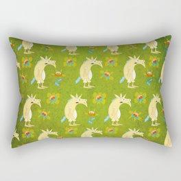 Flowers & Unicorns Rectangular Pillow