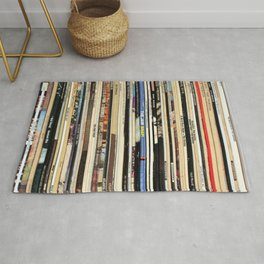 Classic Rock Vinyl Records Rug