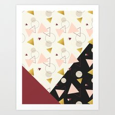 Triangles Mix #society6 #decor #buyart Art Print