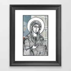 Madonna of Today's Horoscope Framed Art Print