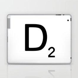Letter D - Custom Scrabble Letter Wall Art - Scrabble D Laptop & iPad Skin