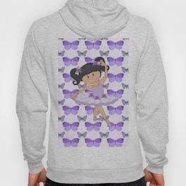 Purple Butterflies and Ballerina Hoody