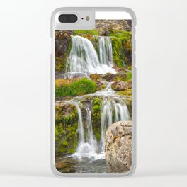 Waterfalls at Dynjandi, Iceland Clear iPhone Case