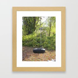 Tire Swing. Framed Art Print