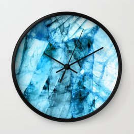 Blue crystal Wall Clock