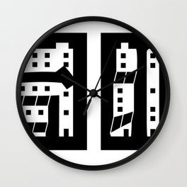 Taipei with Buildings Wall Clock