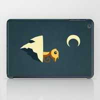 night iPad Cases featuring Moon Cat by Freeminds
