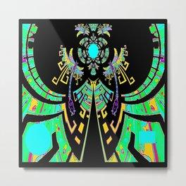 Aztec Malachite Dragon Calender Metal Print
