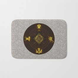 Ilvermorny Knot with House Shields Bath Mat