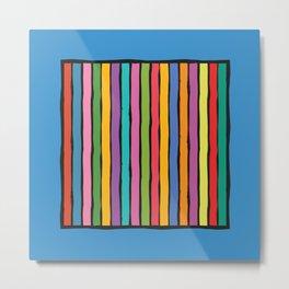 dp203-7 Colorful Stripes Metal Print