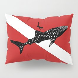 DIVER DOWN - whale shark dive Pillow Sham